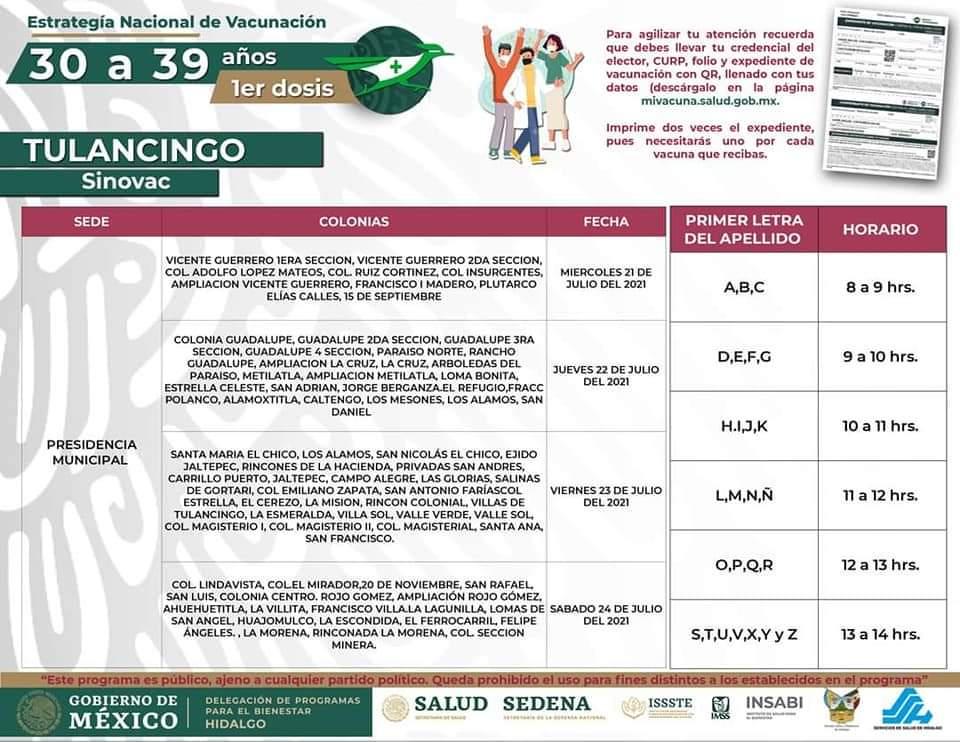 vacunacioón tulancingo 30 a 29 presidencia tulancingo noticiastulancingo.com